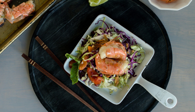 Recipe finder wild alaska seafood citrus spot prawns with sesame cabbage salad forumfinder